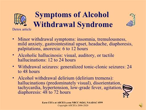 Minor Detox Symptoms by Drugs Of Abuse