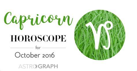capricorn horoscope 2016 capricorn astrology 2016 astrograph capricorn horoscope for october 2016