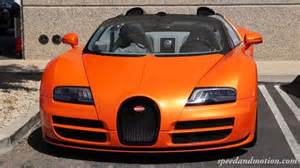 Orange Bugatti Veyron Orange Bugatti Grand Sport Vitesse