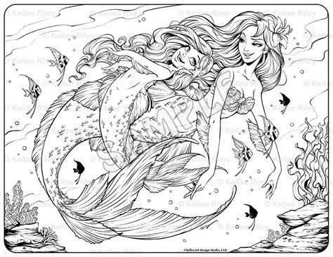 Underwater Mermaid Coloring Pages | underwater mermaid coloring pages coloring pages