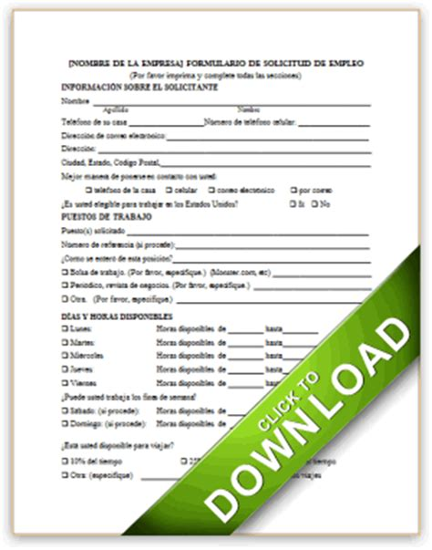 Credit Application Form En Español Employment Application In