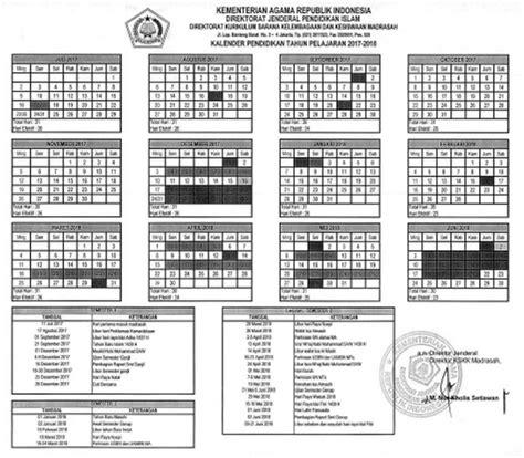 Kalender 2018 Kementerian Agama Kalender Pendidikan Madrasah Kemenag 2017 2018