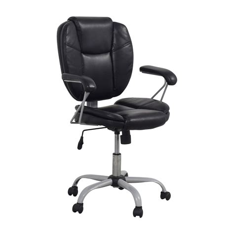 black leather desk chair chairs