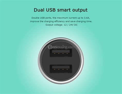 Charger Usb Silver roidmi c1 car charger dual usb ports silver