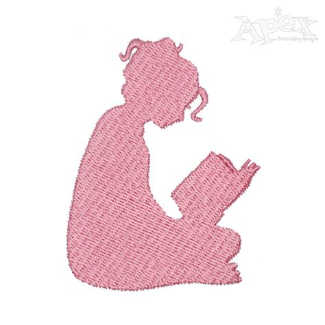 embroidery design reader reading kids embroidery design
