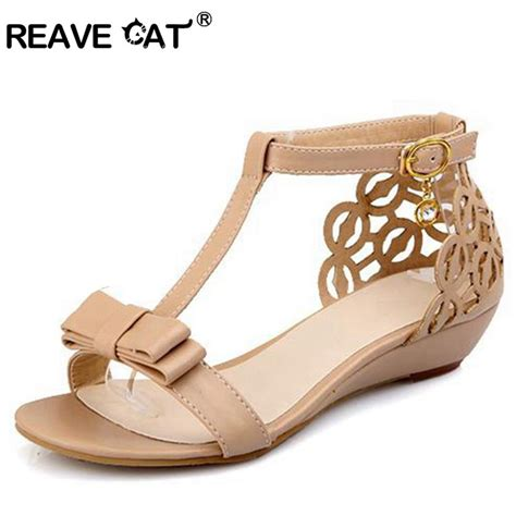 Wedges Sendal Marni Mirror Quality reave cat large size 33 43 wedge sandals high quality rhinestone fretwork buckle
