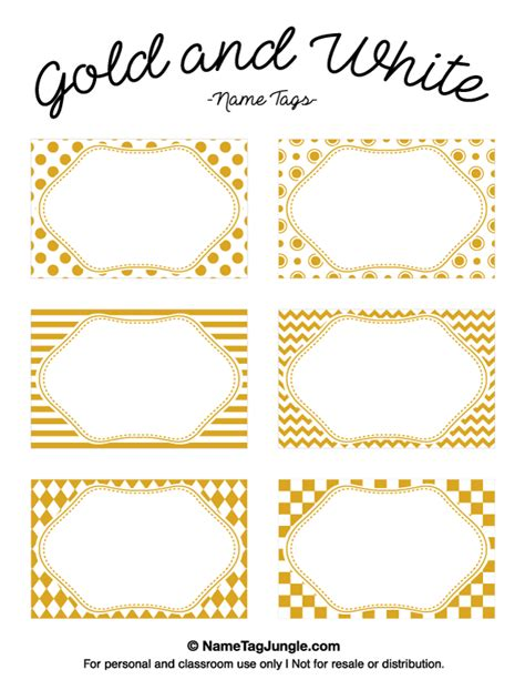 printable gift tags gold printable gold and white name tags