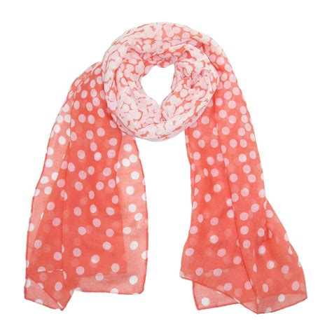 womens fading polka dot scarf by ctm 174 fashion scarves