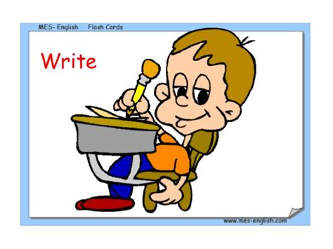 read write run cutting it verbs flash cards actions
