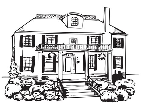 haunted house 1 innovative haunted house colouring page 1 760