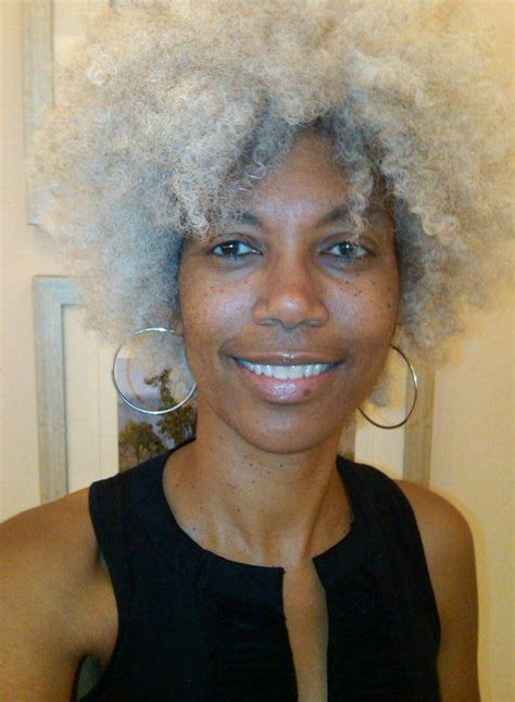 black women grey fro hawk 1000 images about gray hair is pretty to me now on