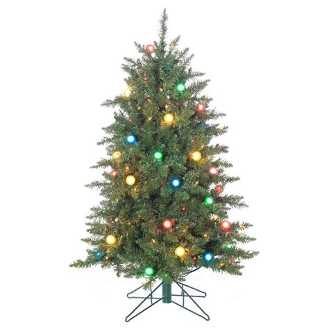 sterling 4 5 ft pre lit reno pine artificial christmas