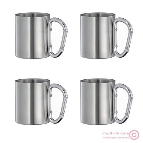 Gelas Carabiner Wall Cangkir Stainless Mug Travel lot 4pcs carabiner hook travel cups wall stainless steel children mug ebay