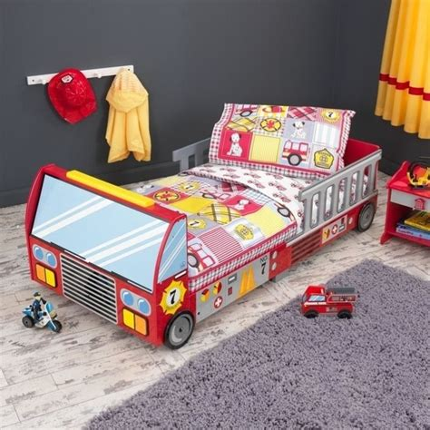 kidkraft fire truck toddler bed 76021