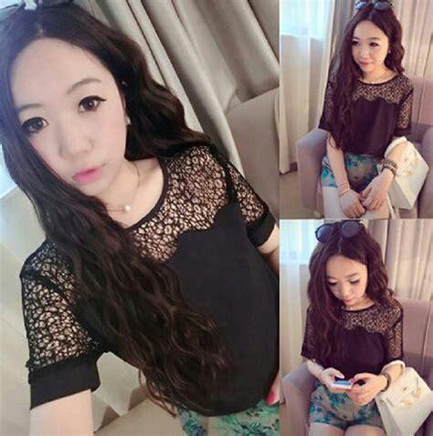 Atasan Blouse Kerut Wanita Hitam baju atasan wanita blouse brukat hitam pendek murah