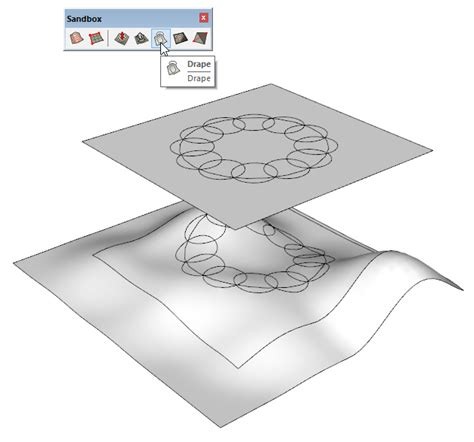 drape tool sketchup how to transfer a flat pattern onto a curved volume pro