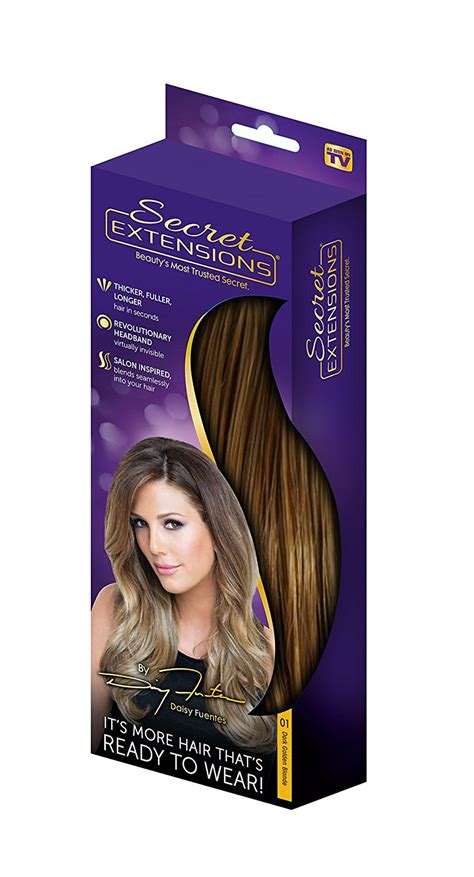 invisible closure hair piece as seen on tv secret extensions hair extensions by daisy fuentes dark