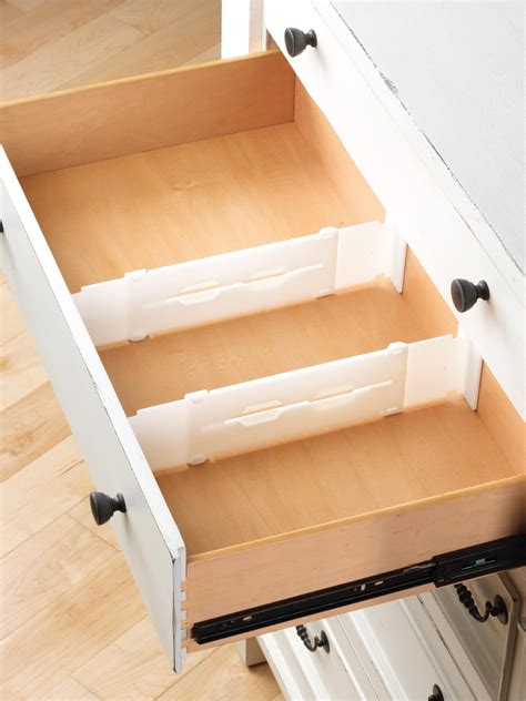 Divider Drawer by Whitmor 6025 3927 Adjustable Drawer Dividers