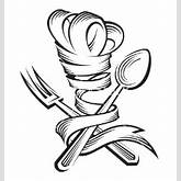 Chef hat spoon and fork vector by alexkava - Image #479018 ...