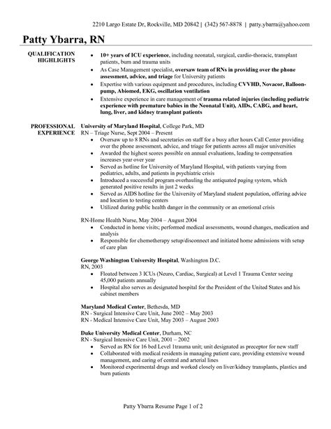 Perioperative Sle Resume by Charge Resume Resume Format Pdf