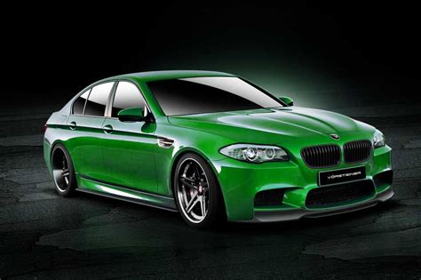green bmw german vorsteiner tuning package for the bmw m5 f10 series