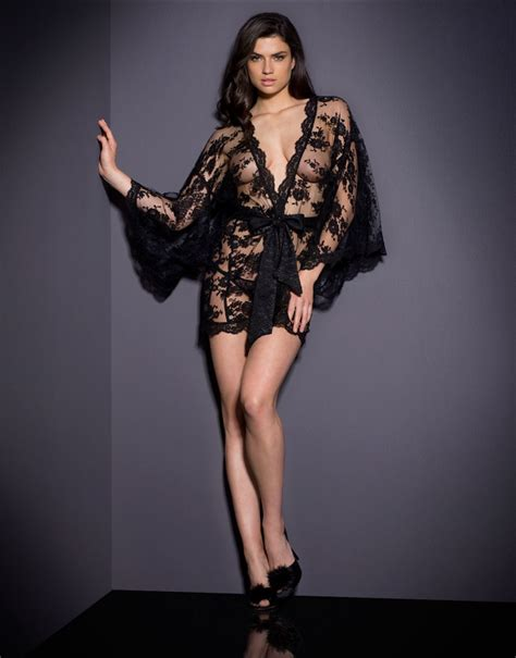Opulent Clothing Agent Provocateur Matinee Kimono Black In Black Lyst
