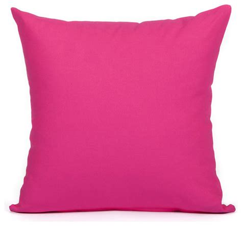 Accent Pillows by Shop Houzz Silver Fern Decor Solid Pink Accent