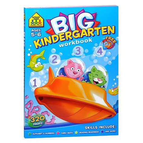 School Zone Kindergarten Stickers And More Workbook school zone big kindergarten workbook walgreens