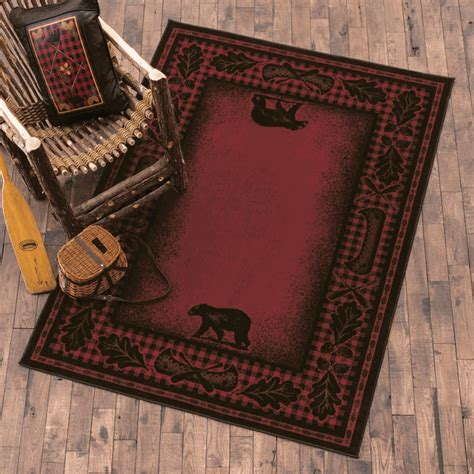 cabin rugs clearance rustic river plaid rug 8 x 10