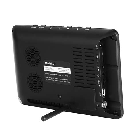 Usb Player For Tv 7 quot inch dvb t t2 digital analog television slim hd led tv