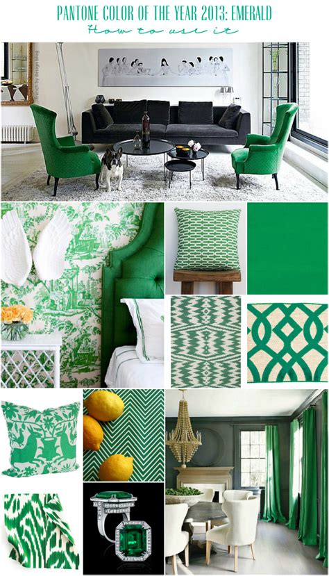 green home decor pantone color of the year 2013 emerald 187 corinne kowal