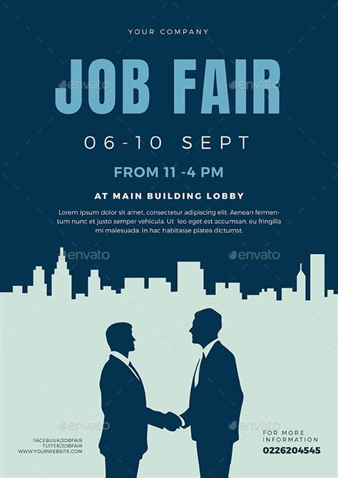 job fair flyer template   vectorvactory graphicriver