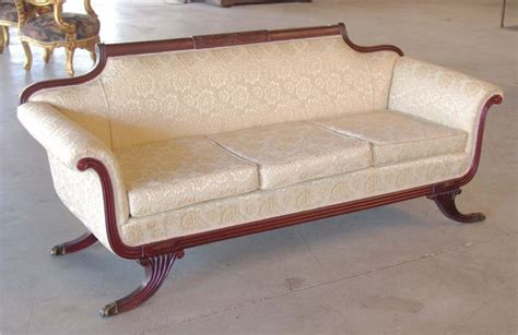 Duncan Phyfe Sofas by Duncan Phyfe Couches Duncan Phyfe Style Mahogany Sofa