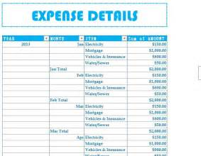 Household budget expenses my excel templates