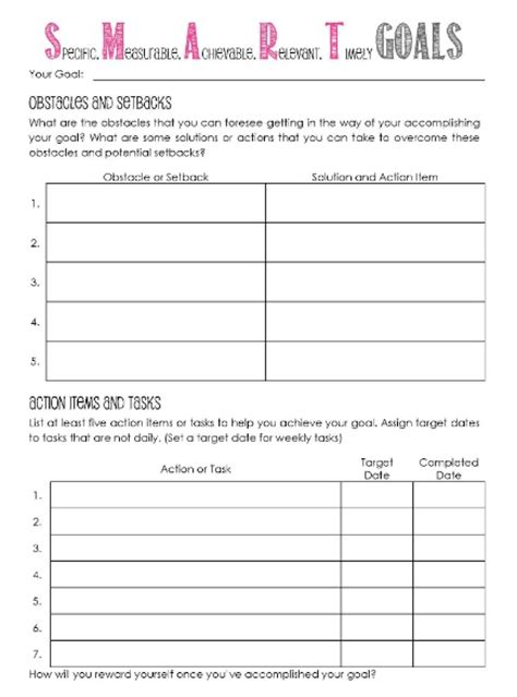 template for goals goal setting template cyberuse