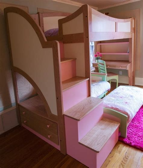 Handmade Bed - bunk beds with desk handmade s loft bunk