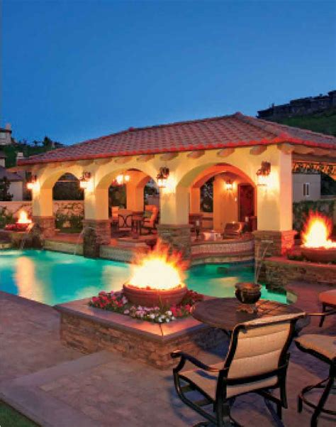 spanish style backyard spanish style landscape with a pool pools with pizzazz
