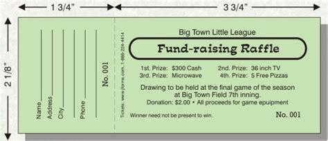 ticket size template raffle ticket size d by jforms perforated and numbered