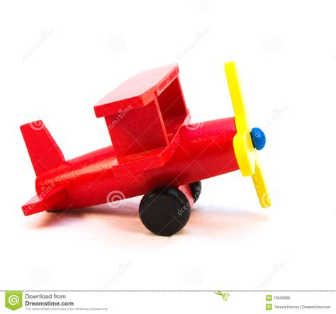 red toy plane stock image image  blue color craft