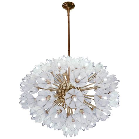 chandelier with white flowers at 1stdibs
