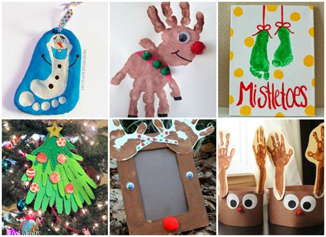 21 handprint and footprint christmas crafts nifymag com