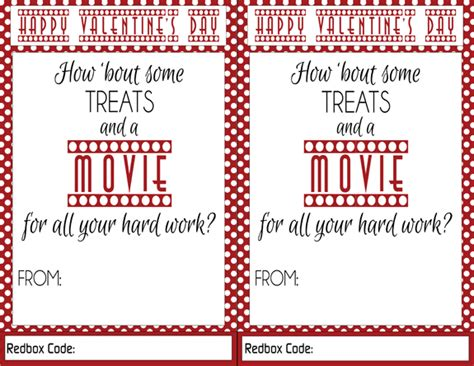Can You Use Gift Cards At Redbox - redbox valentines teacher gift idea over the big moon