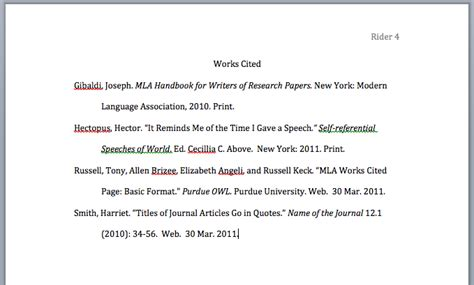 Research Paper Mla Works Cited by Cite Sources Nshs Library
