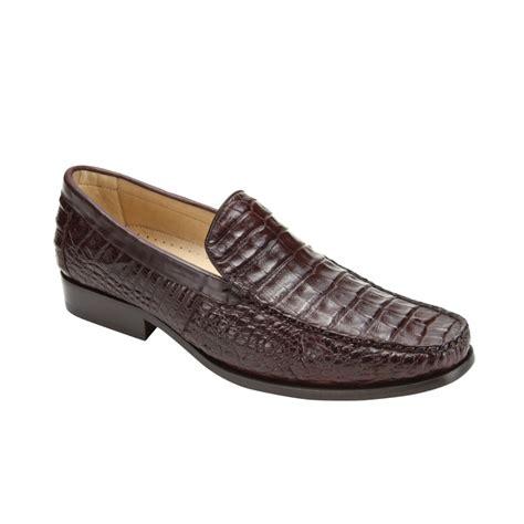 belvedere shoes belvedere villa crocodile loafers brown mensdesignershoe