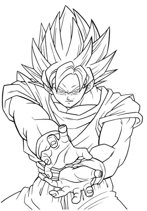 dragon ball z fusion coloring pages free dbz fusion coloring pages