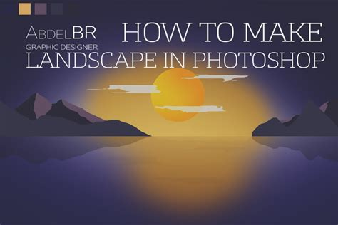 bootstrap tutorial for beginners versi on the spot flat landscape photoshop tutorial for beginners versi on