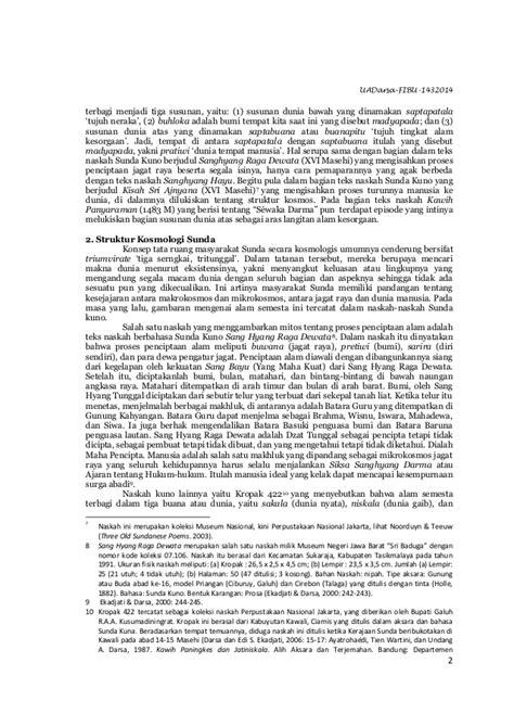 Susunan Satu Naskah Tujuh Undang Undang Kepabeanan Dan Cukai 1 konsepsi dan eksistensi gunung berdasarkan tradisi naskah