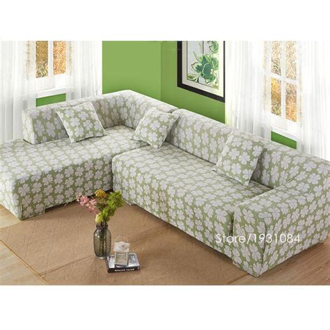 covering a sectional couch flower tight elastic sofa cover slipcover fundas de sofas