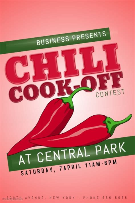 chili cook flyer template chili cook contest template postermywall