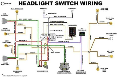 eb headlight switch wiring diagram early bronco build